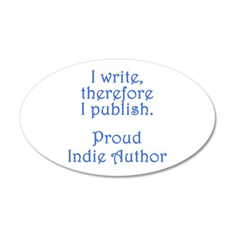 Proud Indie Author 22x14 Oval Wall Peel