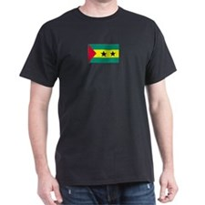 Sao Tome & Principe Black T-Shirt