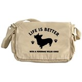 Pembroke welsh corgi breed Design Messenger Bag