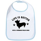 Pembroke welsh corgi breed Design Bib