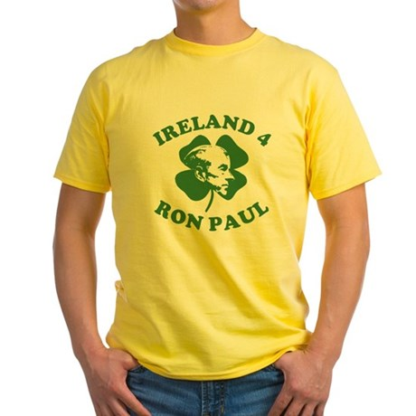Ireland 4 Ron Paul Yellow T-Shirt
