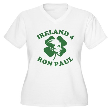 Ireland 4 Ron Paul Womens Plus Size V-Neck T-Shir