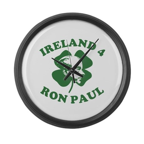 Ireland 4 Ron Paul Large Wall Clock