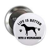 "Weimaraner breed Design 2.25"" Button (10 pack)"