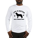 Siberian husky breed Design Long Sleeve T-Shirt