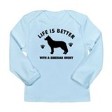 Siberian husky breed Design Long Sleeve Infant T-S