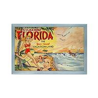 Retro Florida Postcard Fridge Magnet