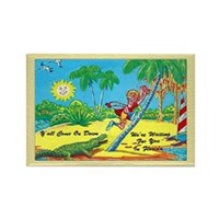 Retro Florida Postcard Fridge Magnet
