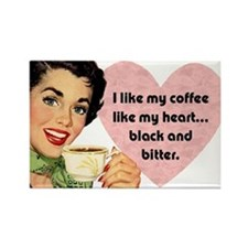Black Coffee Fridge Magnet