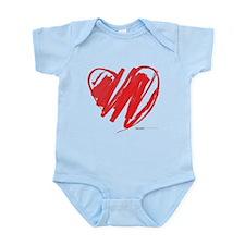 Crayon Heart Infant Bodysuit