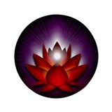 "Red ""Root"" Chakra Lotus 3.5"" Button"