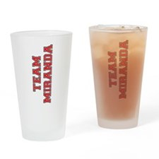 Team Miranda Drinking Glass