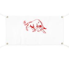 Charging Bull Banner