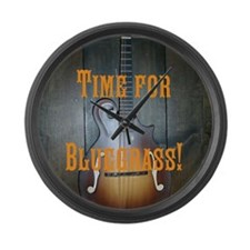 Large Bluegrass mandolin Wall Clock