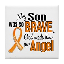 Son Leukemia Shirts and Apparel Tile Coaster