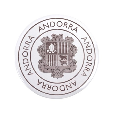 "Vintage Andorra 3.5"" Button"