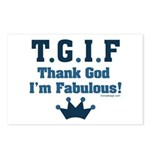 TGIF Thank God I'm Fabulous Postcards (Package of