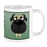 Big Nose Pug Dad Mug