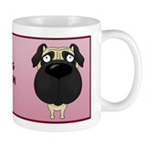Big Nose Pug Mom Mug