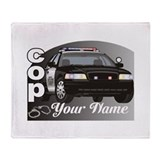 Custom Personalized Cop Throw Blanket