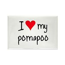 I LOVE MY Pomapoo Rectangle Magnet