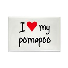 I LOVE MY Pomapoo Rectangle Magnet (10 pack)