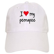 I LOVE MY Pomapoo Baseball Cap