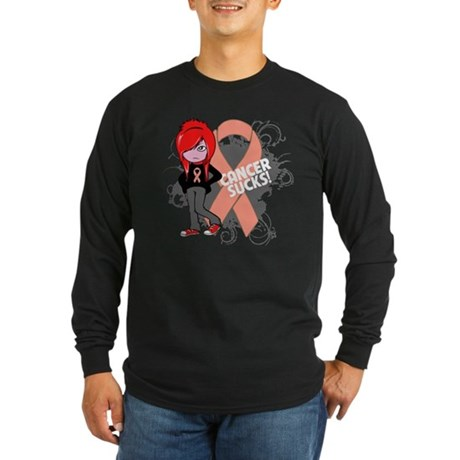 Uterine Cancer Sucks Long Sleeve Dark T-Shirt