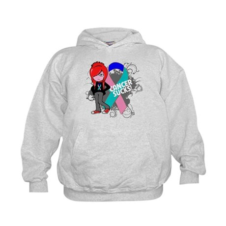 Thyroid CANCER SUCKS Kids Hoodie