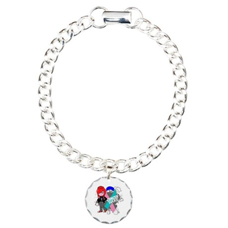 Thyroid CANCER SUCKS Charm Bracelet, One Charm