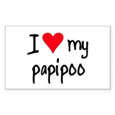 I LOVE MY Papipoo Decal