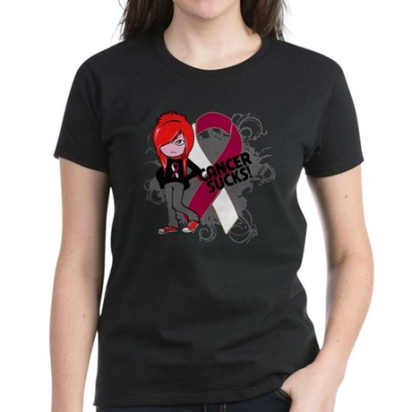 Throat CANCER SUCKS Women's Dark T-Shirt