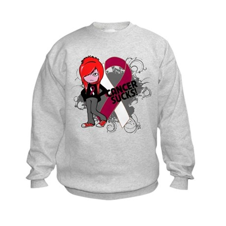 Throat CANCER SUCKS Kids Sweatshirt