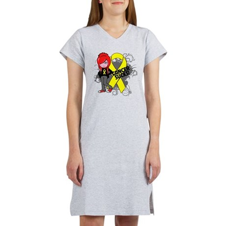 Testicular CANCER SUCKS Women's Nightshirt
