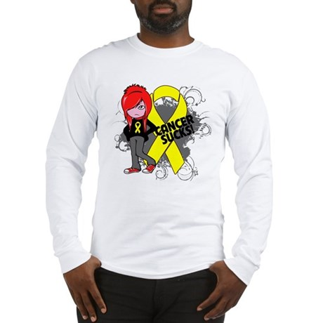 Testicular CANCER SUCKS Long Sleeve T-Shirt