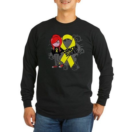 Testicular CANCER SUCKS Long Sleeve Dark T-Shirt