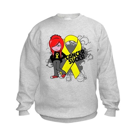 Testicular CANCER SUCKS Kids Sweatshirt