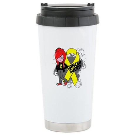 Testicular CANCER SUCKS Ceramic Travel Mug