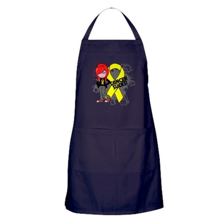 Testicular CANCER SUCKS Apron (dark)