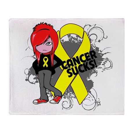 Testicular CANCER SUCKS Throw Blanket
