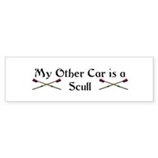 My other Car is a Scull Bumper Car Sticker
