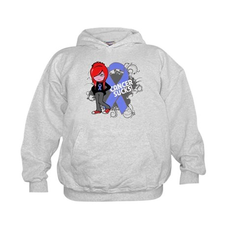 Stomach CANCER SUCKS Kids Hoodie