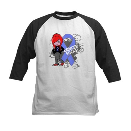Stomach CANCER SUCKS Kids Baseball Jersey