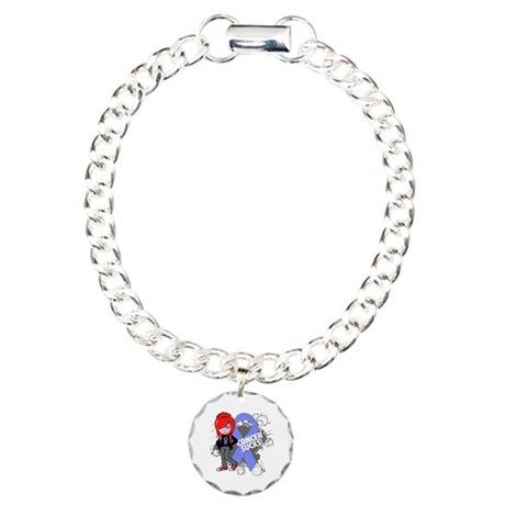 Stomach CANCER SUCKS Charm Bracelet, One Charm