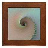 Natural Spiral Fractal Framed Tile