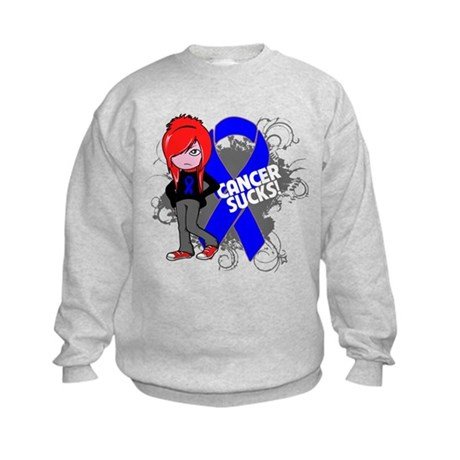 Rectal CANCER SUCKS Kids Sweatshirt