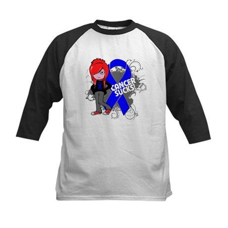 Rectal CANCER SUCKS Kids Baseball Jersey
