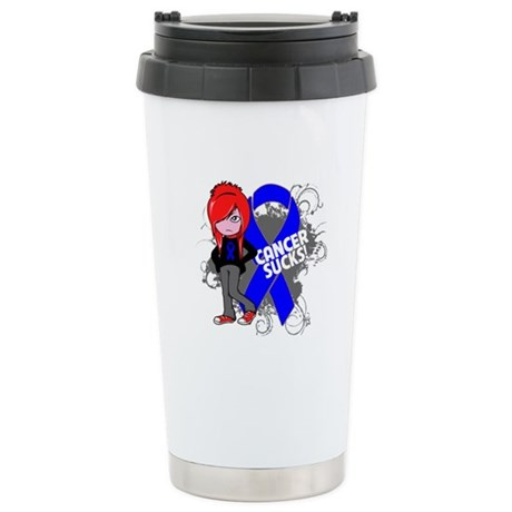 Rectal CANCER SUCKS Ceramic Travel Mug