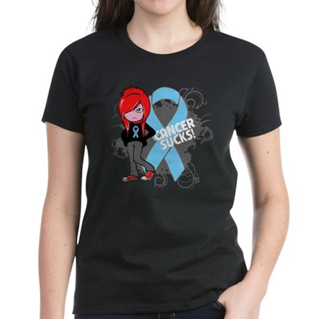 Prostate Cancer SUCKS Women's Dark T-Shirt