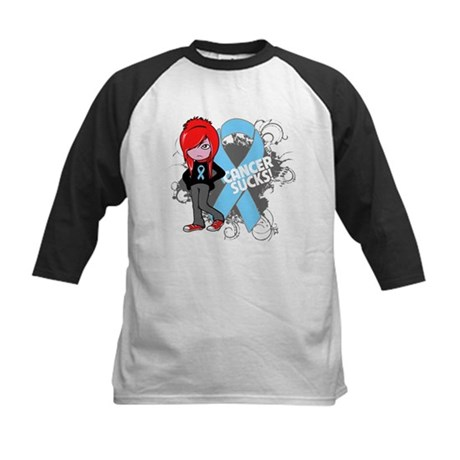 Prostate Cancer SUCKS Kids Baseball Jersey